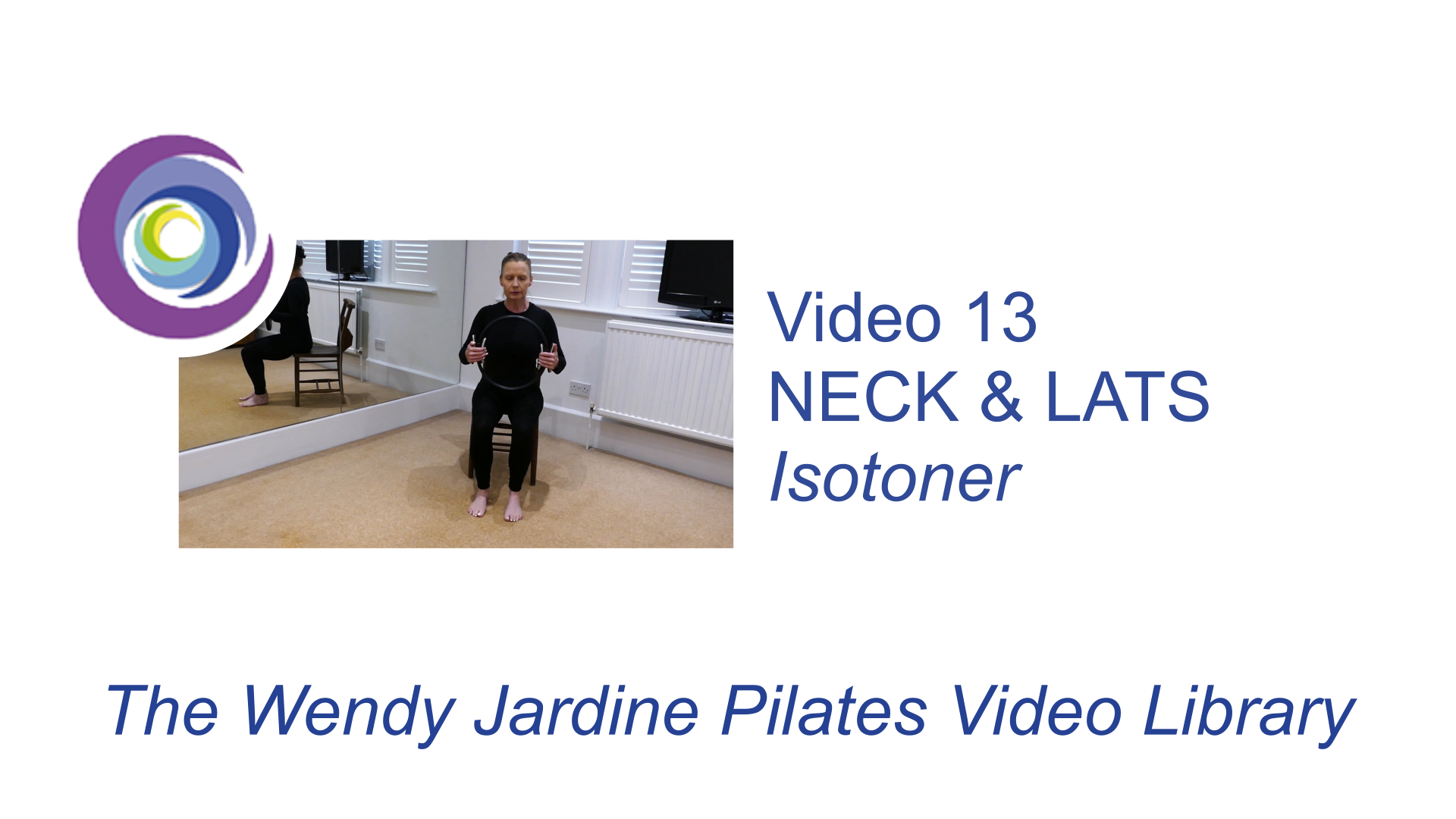 13 Using an Isotoner to relieve the neck and lengthen and strengthen the spine